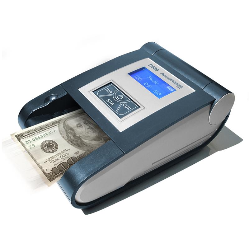 Detectora Automática de múltiples monedas UV MG IR DD Modelo D450 Accubanker A.Melville Dòlares Quetzales